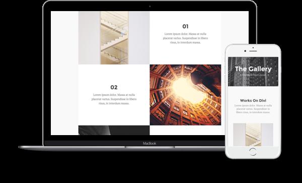 5 układów stron dla galerii – bezpłatne od Elegant Themes