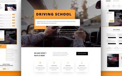 Szablon dla auto szkoły / kurs nauki jazdy