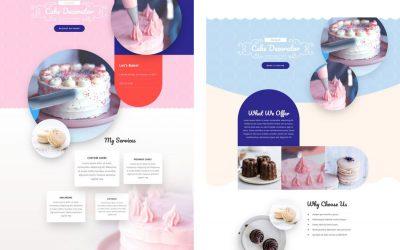 Kolorowy szablon dla cukierni i producentów słodkości