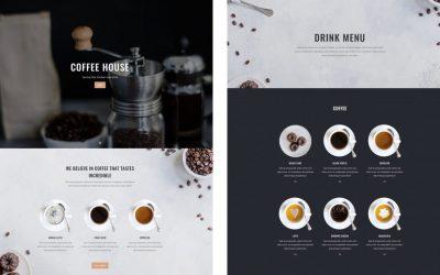 Szablon dla kawiarni, kafeterii, baru kawowego