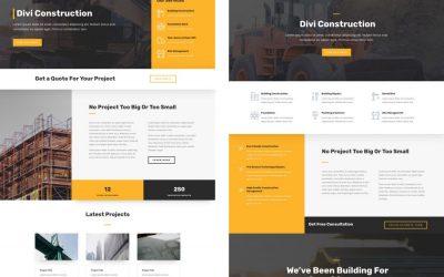Szablon dla firmy budowlanej